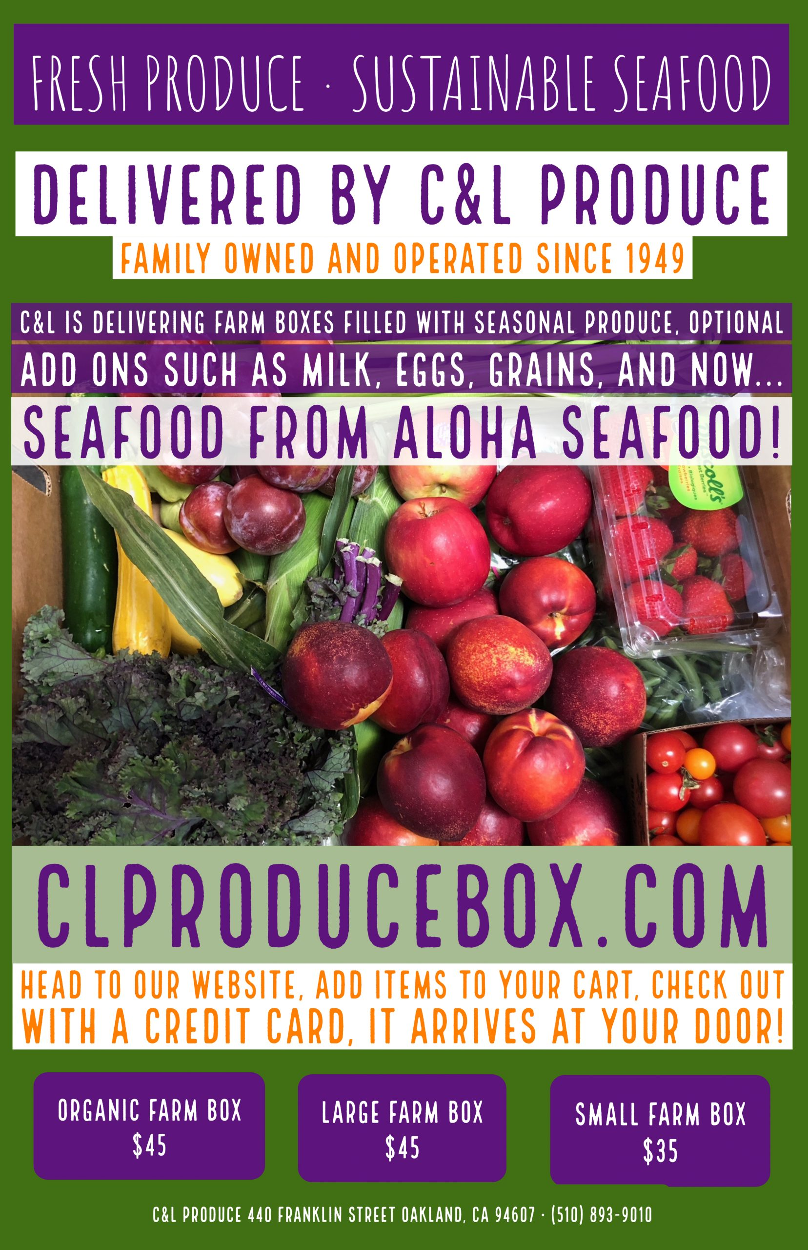 Produce Box and Seafood Home Delivery!